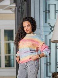 Tęczowy sweter wiązany Arcobaleno