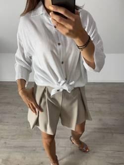 Koszula lniana biała