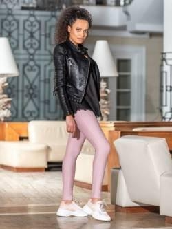 Spodnie Alice - legginsy z wysokim stanem jasny róż